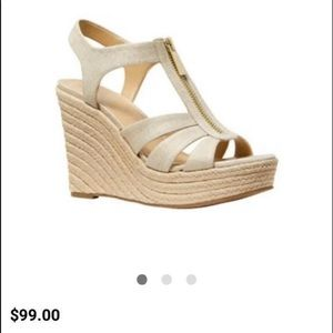 New *Pale Gold Michael Kors Wedges*